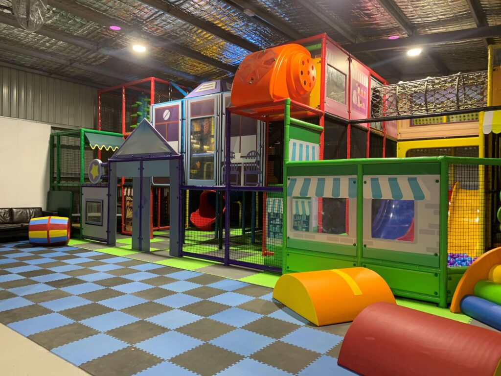 Indoor play area and playground